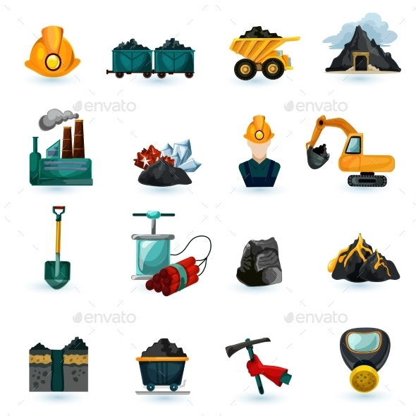 GraphicRiver Mining Icons Set 11035984
