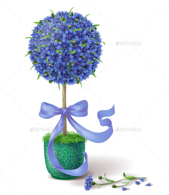 GraphicRiver Summer Flower Topiary 11035985