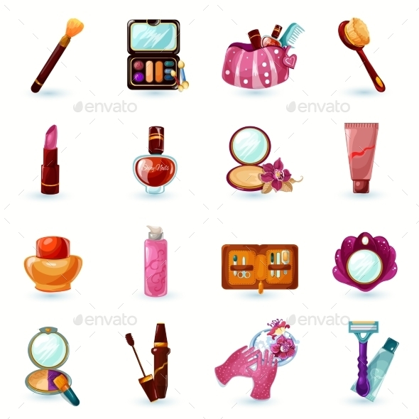 GraphicRiver Cosmetics Icons Set 11035998