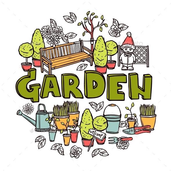GraphicRiver Gardening Design Concept 11036001