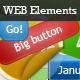 Glossy Web Elements - GraphicRiver Item for Sale
