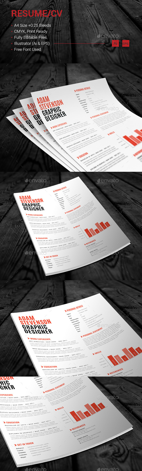 GraphicRiver Resume CV 11036062