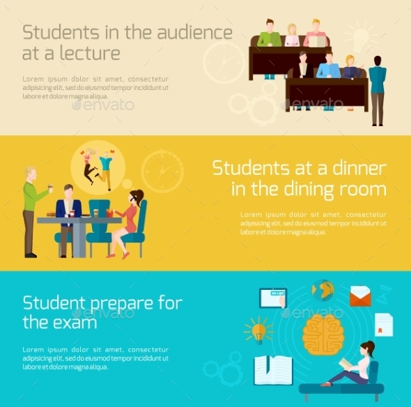 GraphicRiver Students Banner Set 11036070
