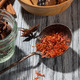 saffron with various spices on wooden background - PhotoDune Item for Sale