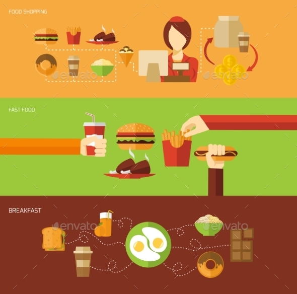 GraphicRiver Fast Food Banner Set 11036518