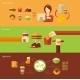 Fast Food Banner Set - GraphicRiver Item for Sale