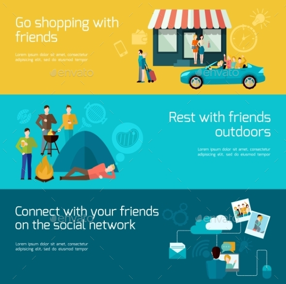 GraphicRiver Friends Banner Set 11036519