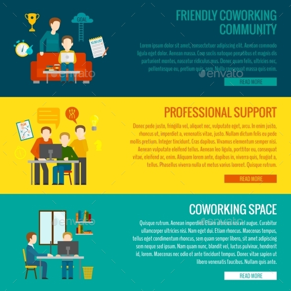 GraphicRiver Coworking Center Banner 11036547