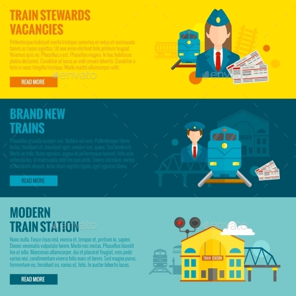 GraphicRiver Railway Banner Set 11036551