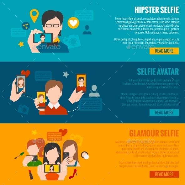 GraphicRiver Selfie Banner Set 11036558