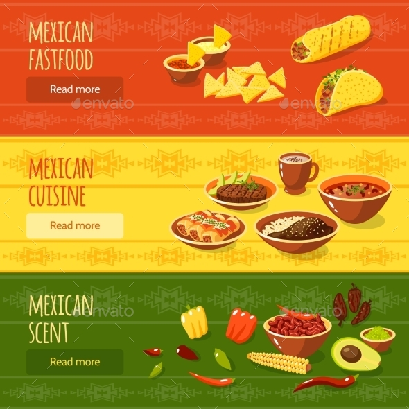 GraphicRiver Mexican Food Banner Set 11036572