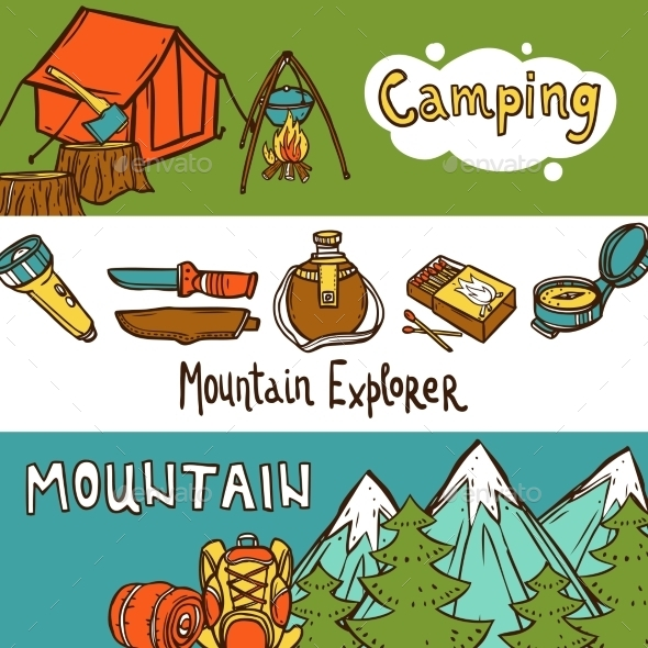 GraphicRiver Camping Horizontal Banners 11036580