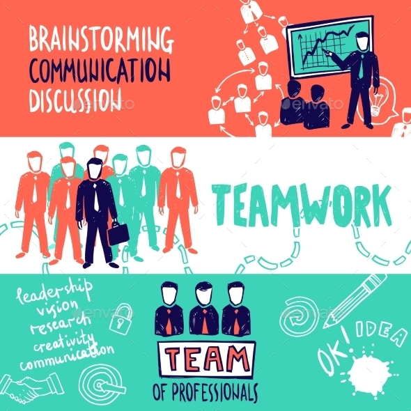 GraphicRiver Teamwork Banners Sketch 11036588