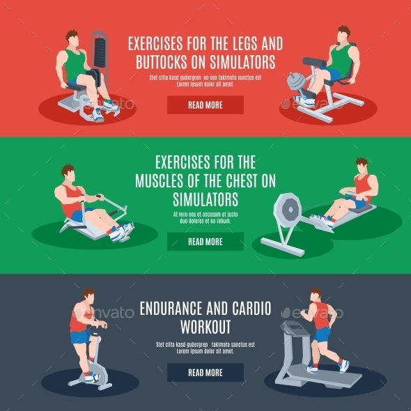 GraphicRiver Exercise Machines Set 11036597