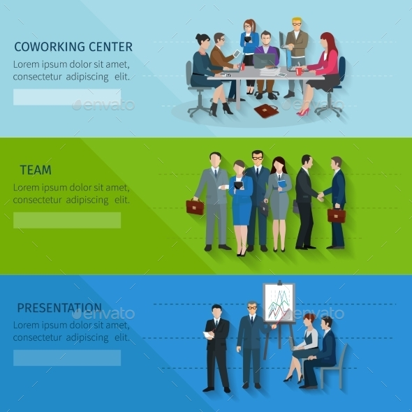 GraphicRiver Office Worker Banner Set 11036605