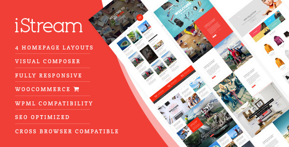 Download iStream - Creative Responsive WordPress Shop Theme nulled download