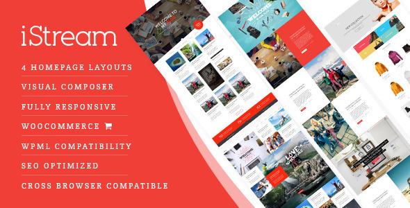 iStream - Creative Responsive WordPress Shop Theme