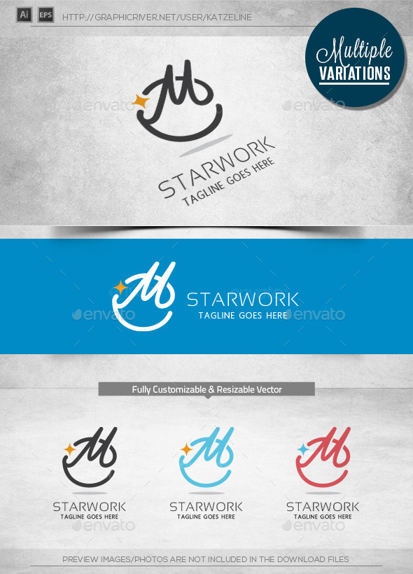 GraphicRiver Star Work Logo Template 11036653