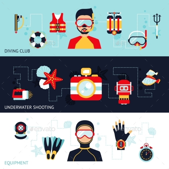 GraphicRiver Diving Banner Set 11036654