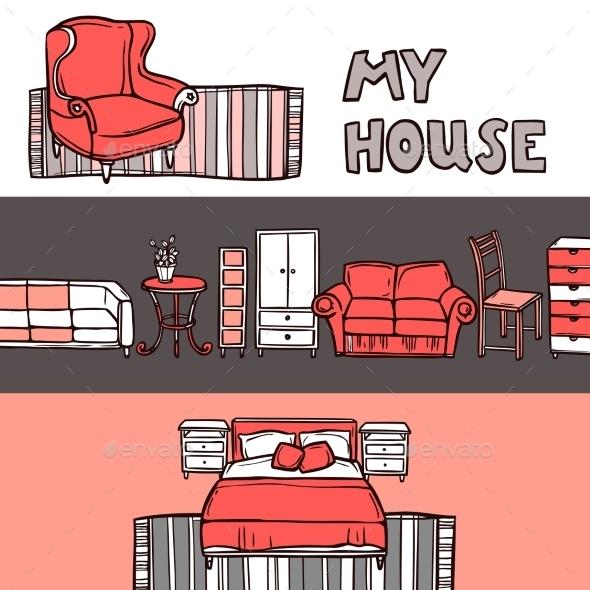GraphicRiver Furniture Banner Sketch 11036714
