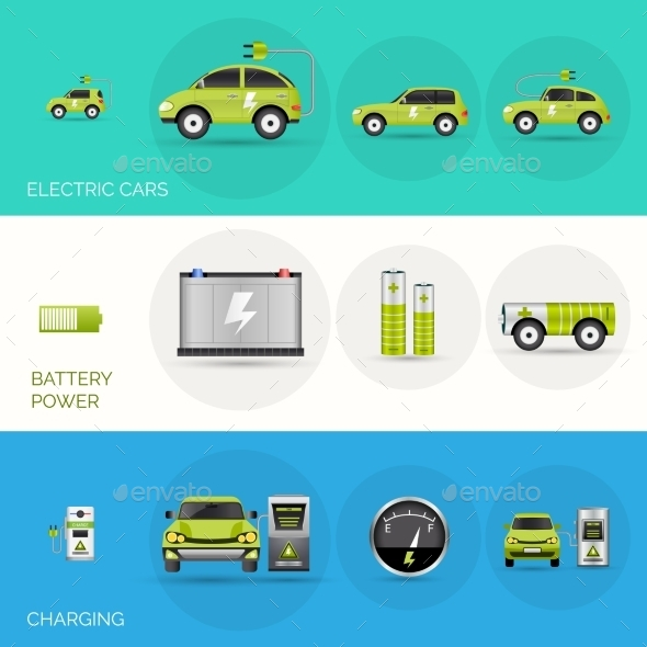 GraphicRiver Electric Car Banners 11036728