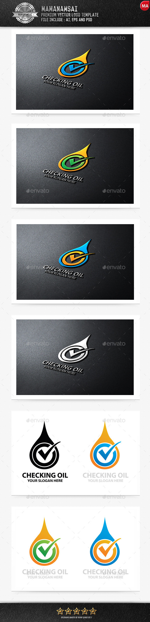 GraphicRiver Checking Oil Logo 11037375