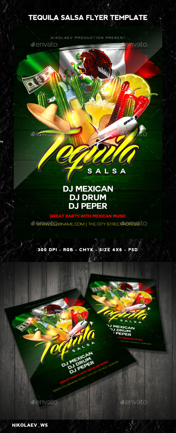 GraphicRiver Tequila Party Flyer 11037378