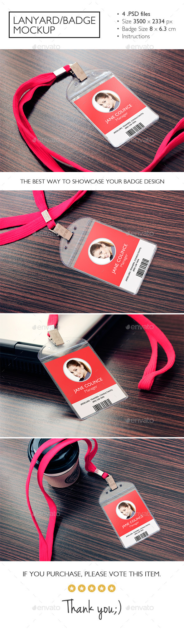 GraphicRiver Lanyard Badge Mockup 11037634