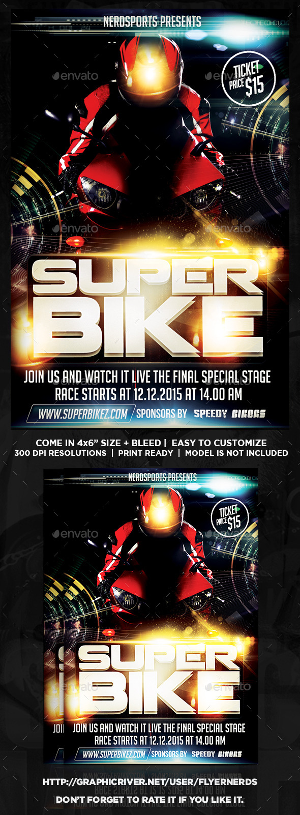GraphicRiver SuperBike Championships Sports Flyer 11037696
