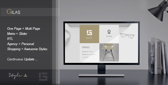 ThemeForest Gilas Creative Portfolio Template 10789025