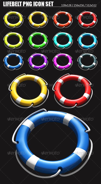 12 Lifebelt Help PNG Icons Set - Web Icons