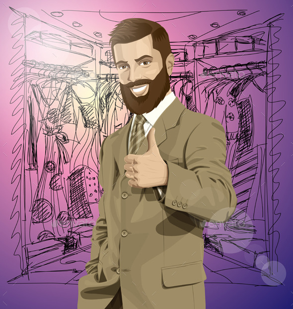 GraphicRiver Business Man With Beard Shows Well Done 11037769