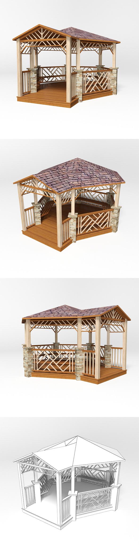 Gazebo 18 - 3DOcean Item for Sale