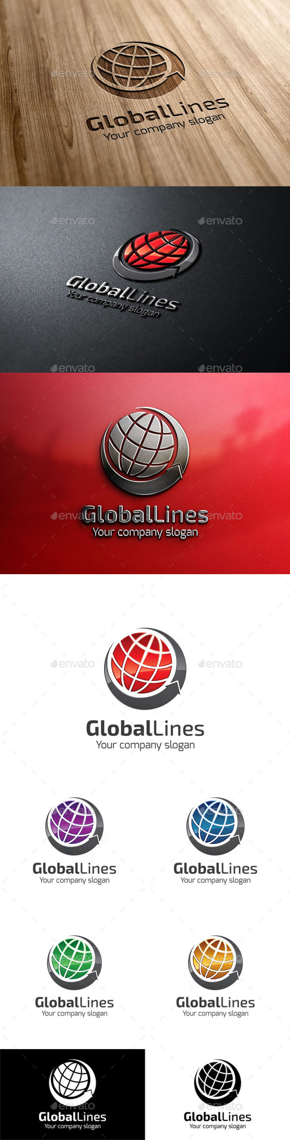 GraphicRiver GlobalLines 11037858