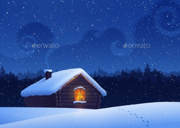 GraphicRiver Winter Landscape 11037977