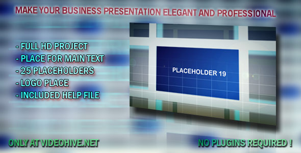 After Effects Project - VideoHive Business Gallery 25 placeholders 136764
