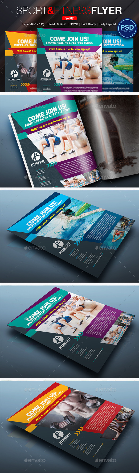 GraphicRiver Sport & Fitness Flyer Vol.07 11038108