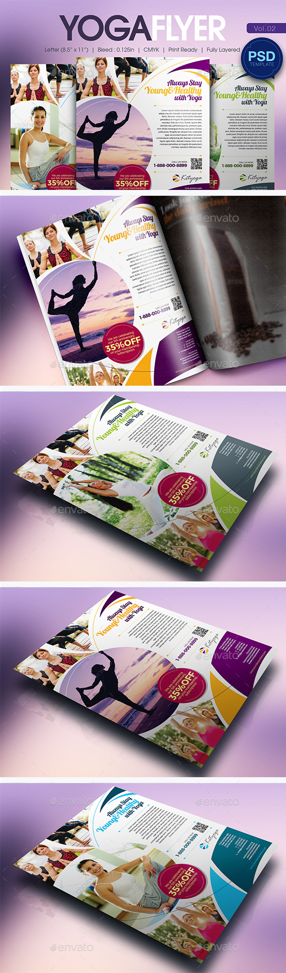 GraphicRiver Simple Yoga Flyer Vol.02 11038125