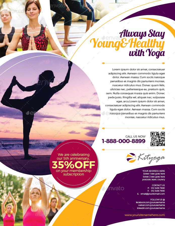 Simple Yoga Flyer Vol02 by kitcreativestudio2 – Yoga Flyer