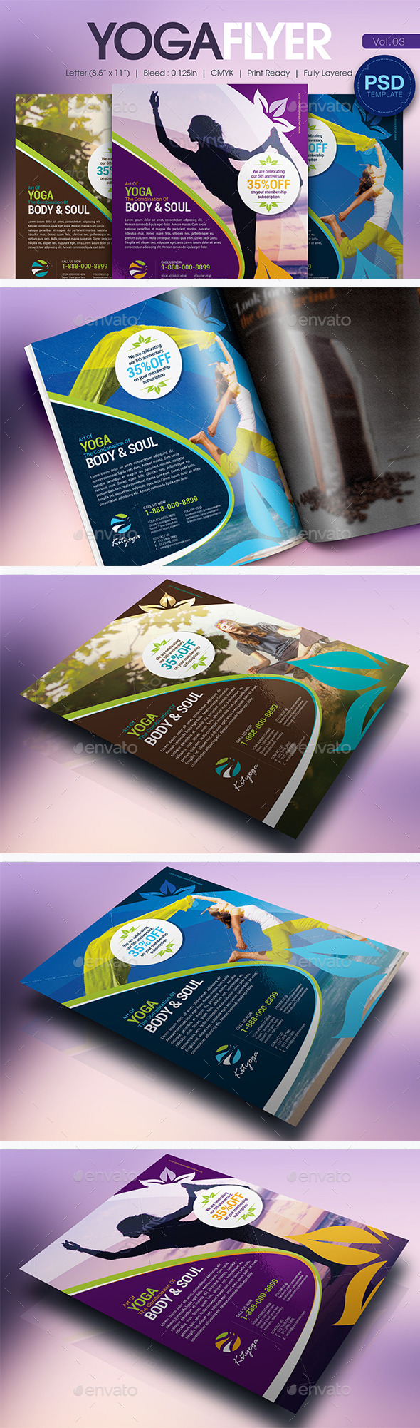 GraphicRiver Simple Yoga Flyer Vol.03 11038128