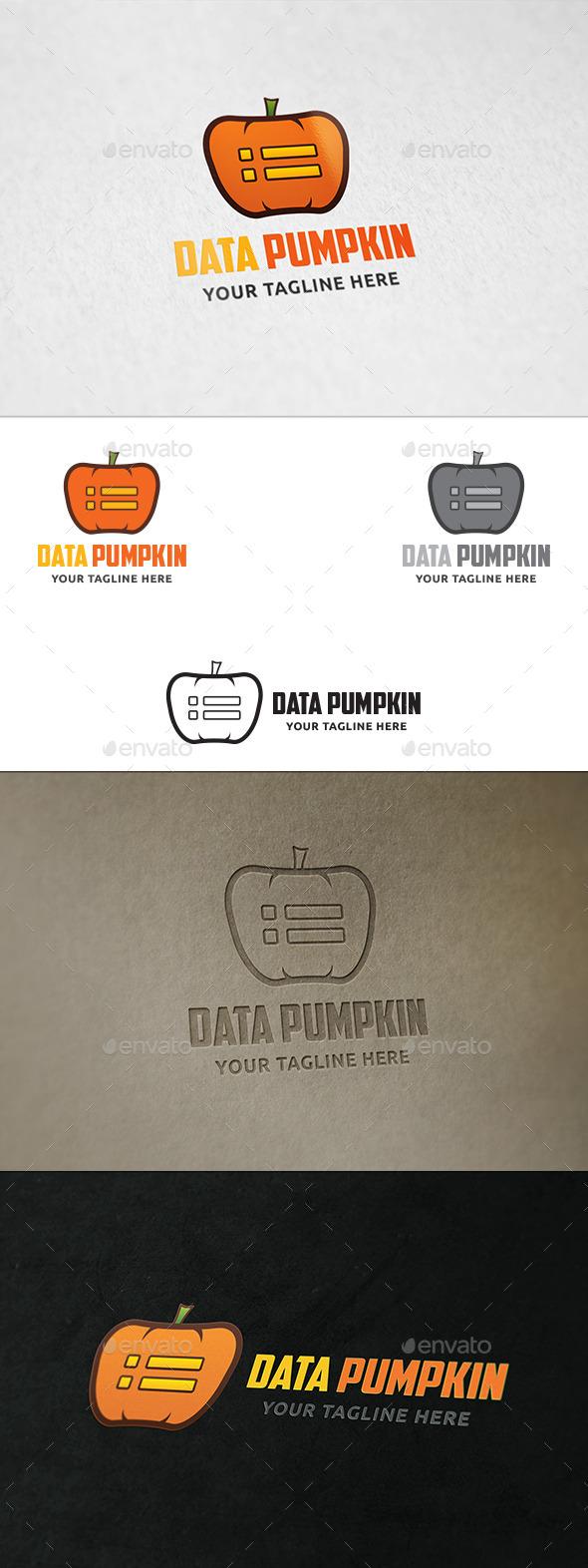 GraphicRiver Data Pumpkin Logo Template 11038149