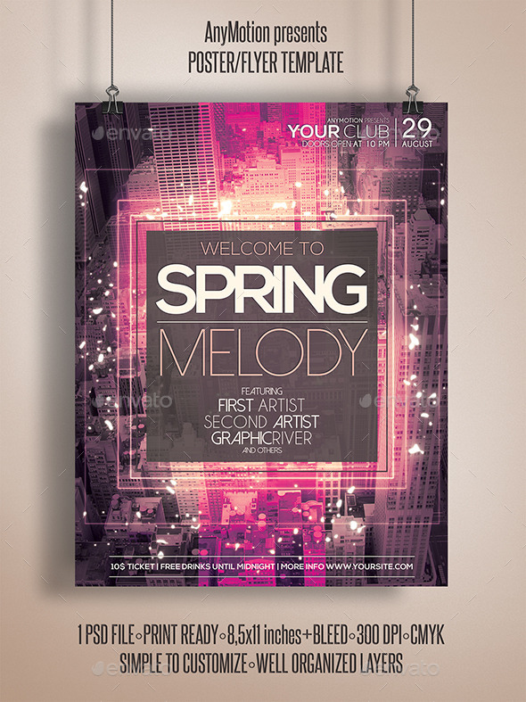 GraphicRiver Spring Melody Flyer Template 11038569