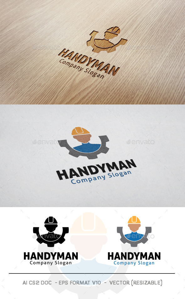 GraphicRiver Handyman Logo 11038575