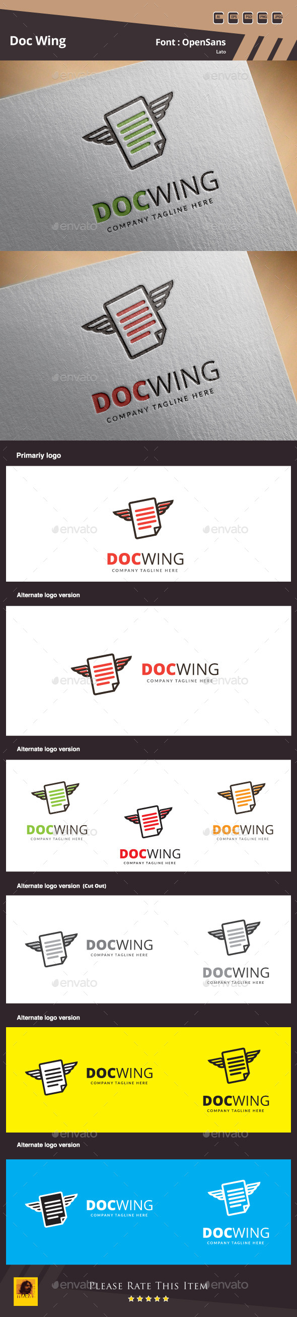 GraphicRiver Doc Wing Logo Template 11038945