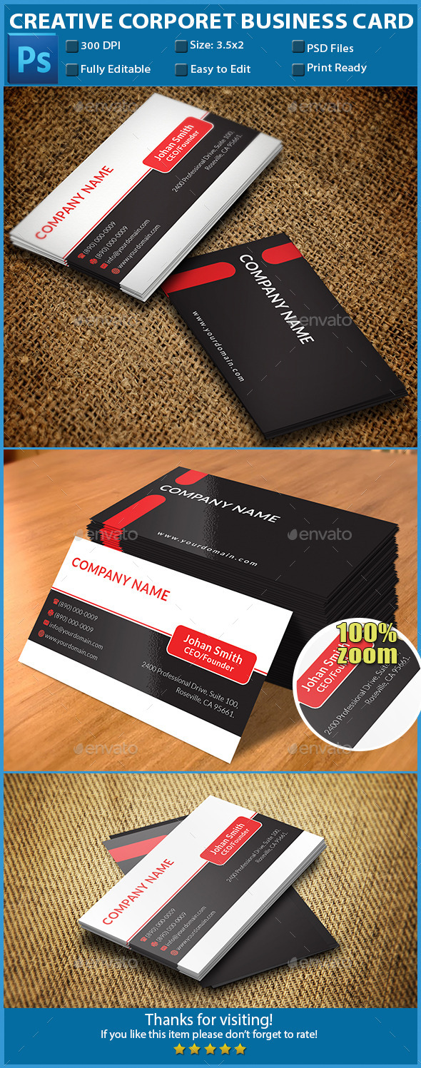 GraphicRiver Creative Corporate Business Card 11006251
