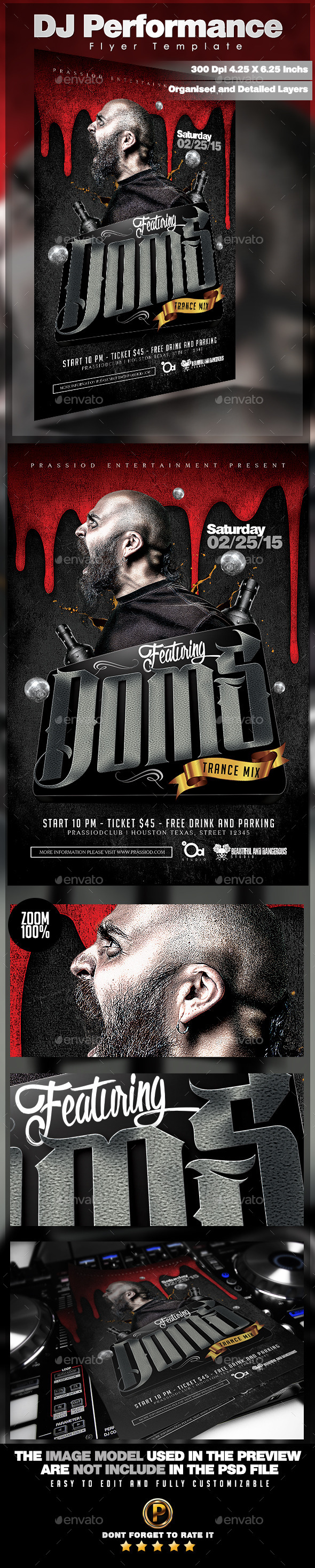 GraphicRiver DJ Performance Flyer Template 11039468