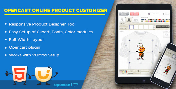 CodeCanyon Online Product Customizer Opencart Extension 11039486