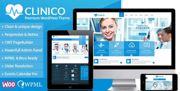 chia se theme Clinico wordpress mien phi