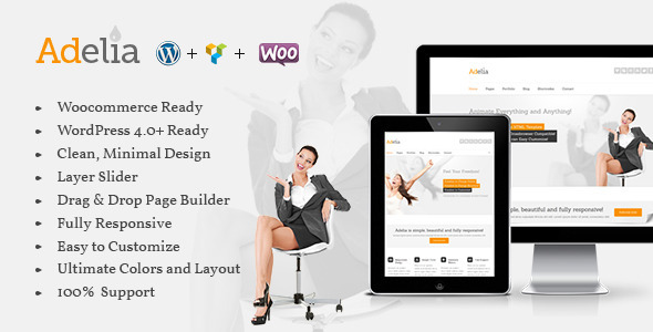 ThemeForest Adelia Responsive Multi-Purpose WordPress Theme 10982801