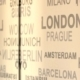 The Names Of Major Cities Sweep In Front Of Camera - VideoHive Item for Sale